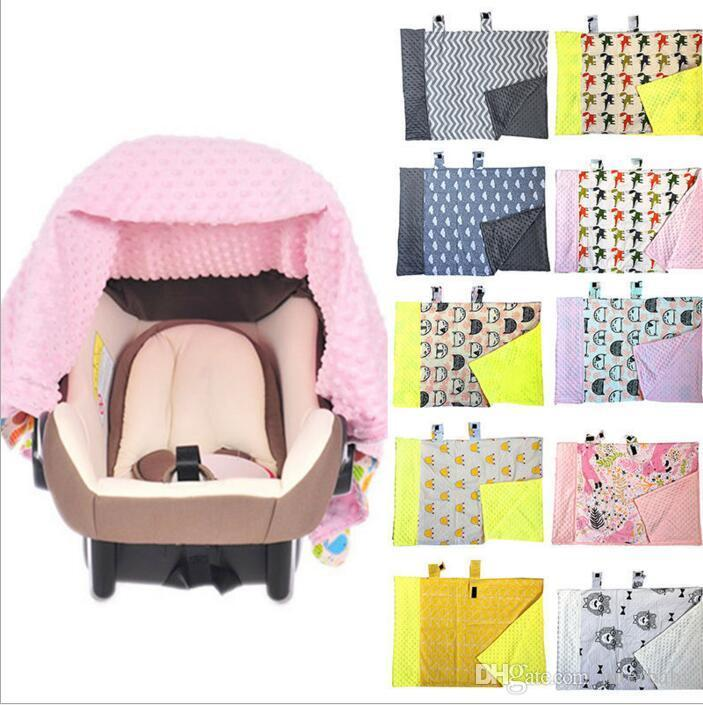 Baby Blankets INS Car Seat Cover Nursing Breastfeeding Canopy Shoping Cart Covers Infant Stroller Sleep Buggy Canopy High Chair Cover B2829