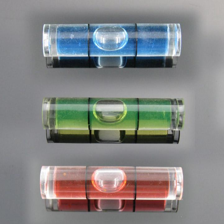 (25 قطعة / الكثير) 8 * 35 مم البلاستيك أنبوب فقاعة المستوى فقاعة المستوى الروح للصورة أداة قياس مستوى الإطار