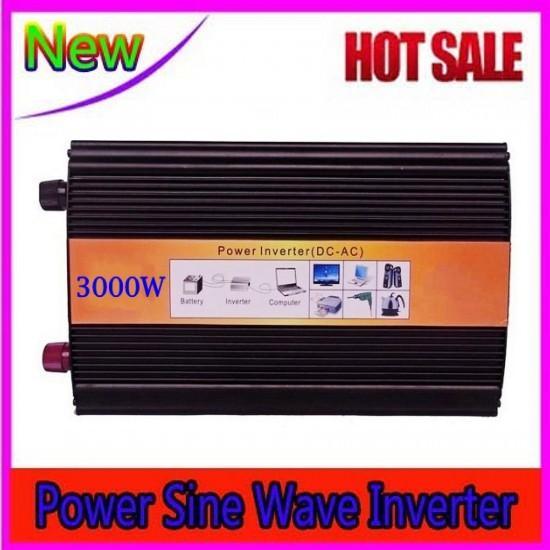 6000 W picco 3000 W Power Inverter Onda sinusoidale pura DC 24V a AC 220V Convertitore di energia solare / vento / auto / gas
