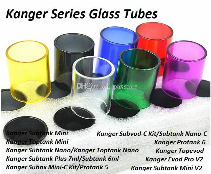 Kanger Subtank Toptank Mini Nano için yedek Cam Tüpler Artı Subox Mini C-Kit Subvod C-Kit Protank 5 6 Topevod Evod Pro Tankı