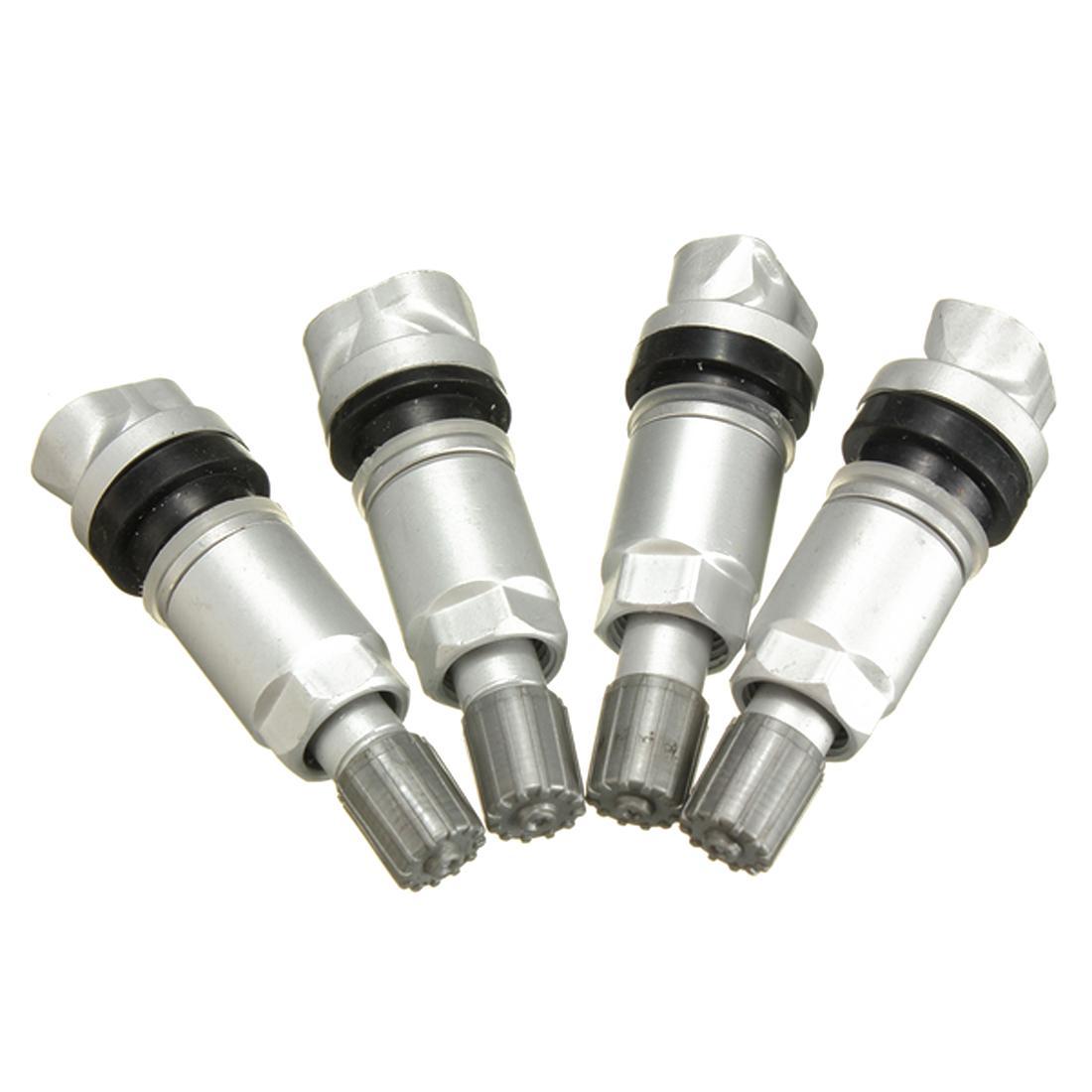 (4PCS) NEW TPMS sensor de presión válvula de la rueda del vástago kit de reconstrucción de reemplazo adapta JEEP DODGE LAND ROVER