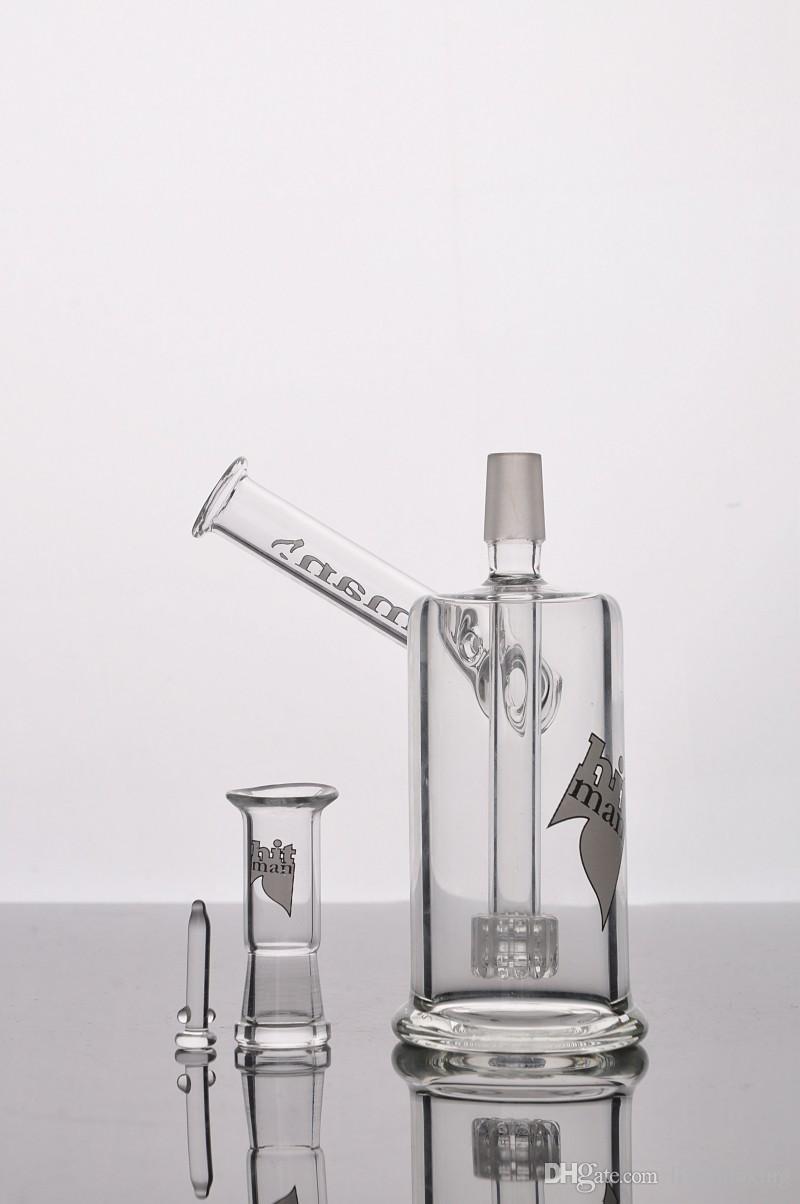 Embriagadores Hitman bongs de vidrio con el brazo plataformas petrolíferas barato Vaso de cristal Bong Tubos Birdcage agua Recycler inclinado Bongs envío