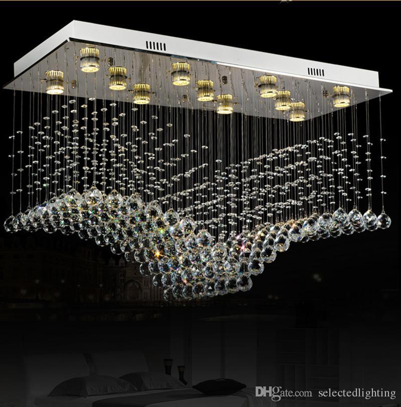 moderne luster kristall kronleuchter leuchte doppeltreppe led pendelleuchte fr foyer esszimmer restaurant dekoration - Kronleuchter Fur Foyer