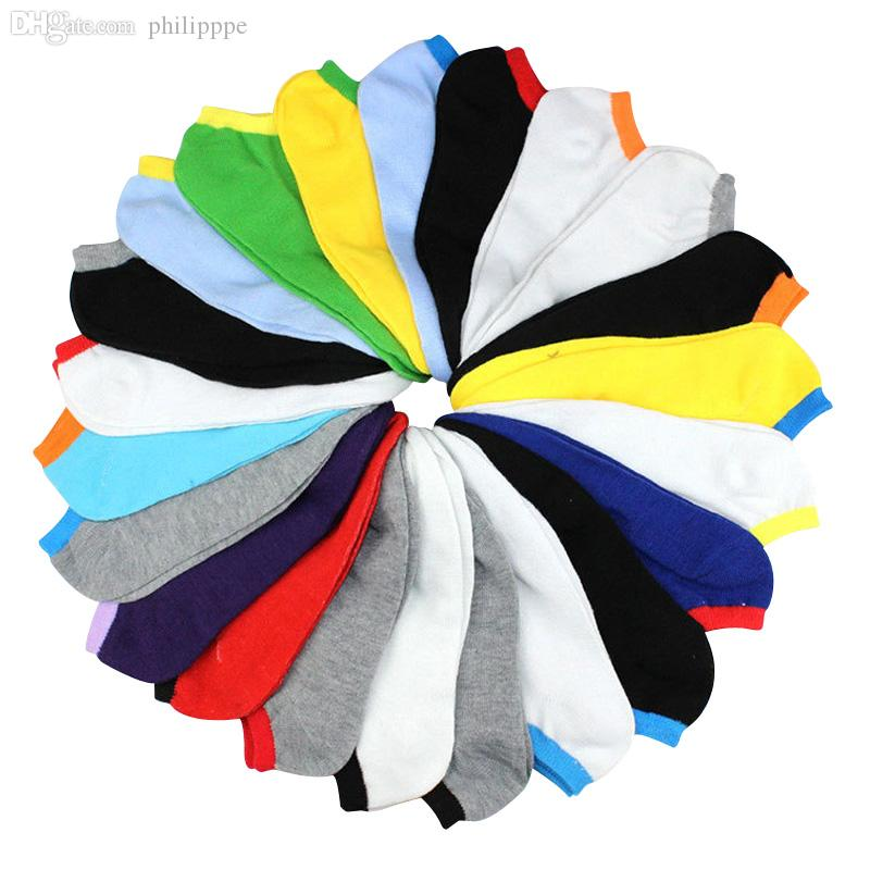 Venta al por mayor-New Candy Colors Fashion Mascule Socks Sport Asakuchi Casual Verano Calcetines Menores Middle School Hombre Socks10Pairs / Lot