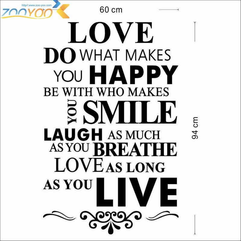 Happy Life Quotes Home Rules Wall Decorative Stickers Family Wall Decal Vinyl Wall Art Decals Poster Wall Sticker Deal Wall Sticker Deals From