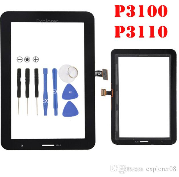 OEM For Samsung Galaxy P1000 Tab 2 7.0 P3100 P3110 P3113 VS Plus P6200 Touch Screen Digitizer Glass Lens + Adhesive Replacement 1PCS