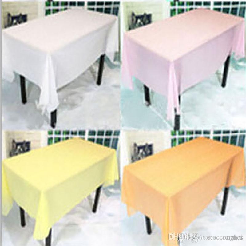 """Nappe En Plastique Table Couvercle En Tissu Fête De Mariage Évènements Vaisselle Décoration Nappe Nappes Nappe PVC 54 """"X 72"""" H210498"""