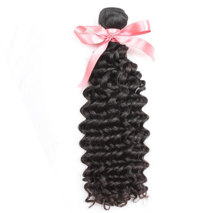 """Peruanisches Reines Haarwebart Doppelschuss-menschliche Haarverlängerungen 8 """"~ 30"""" Deep Wave Unverarbeitete Remy Hair Natürliche Farbe Färbliche 1 stück Greatremy"""