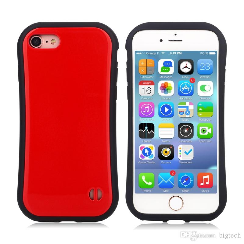 100pcs Korea Fashion Silicone TPU+PC Phone Case for iphone 7plus 5.5inch lg x power k210 Candy Color Small Waist Soap Slim Mobile Phone Case