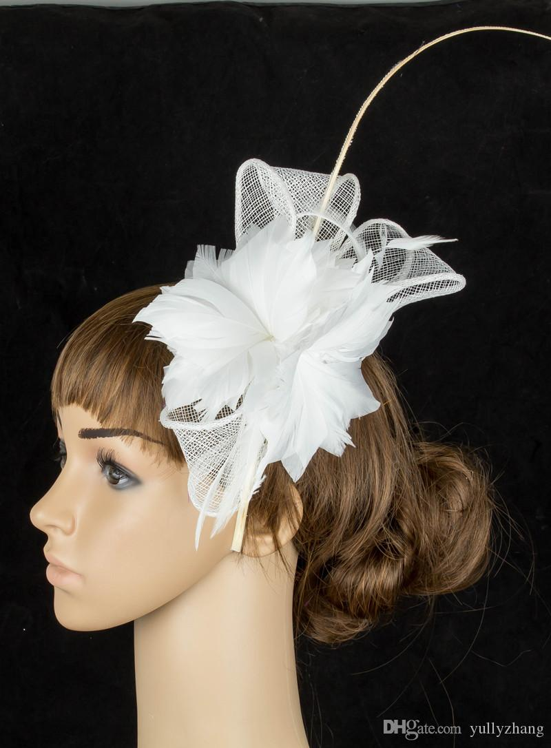 17 colors elegant sinamay material fascinator hats T-platform hair accessories party headpiece suit for all season MYQ078