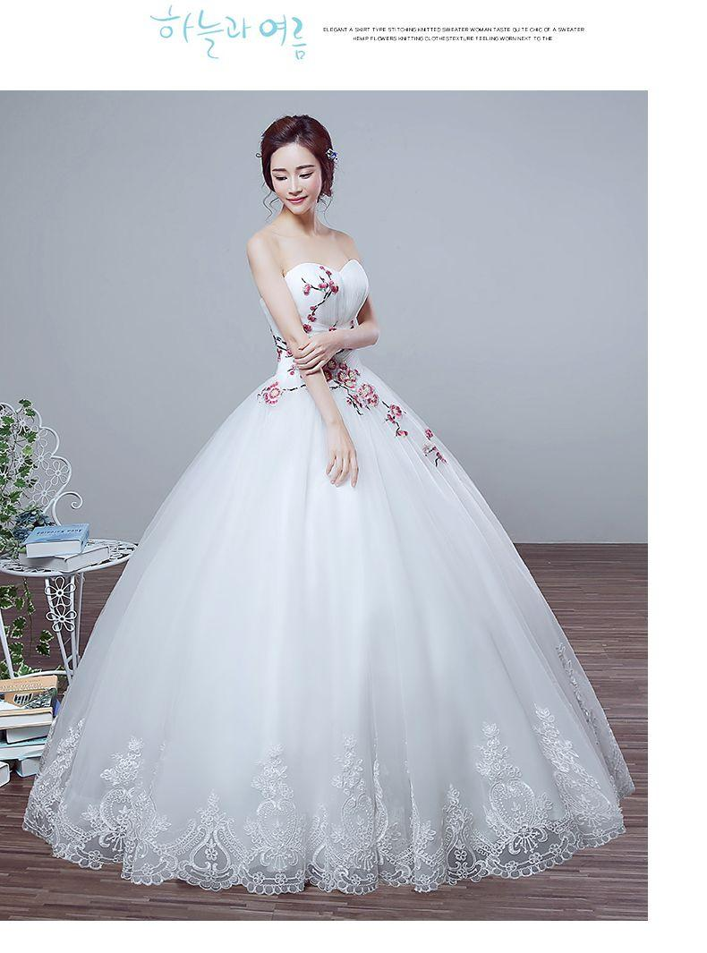 2016 New Summer Wedding Dress Korean Princess Bride Wedding Bra Size ...