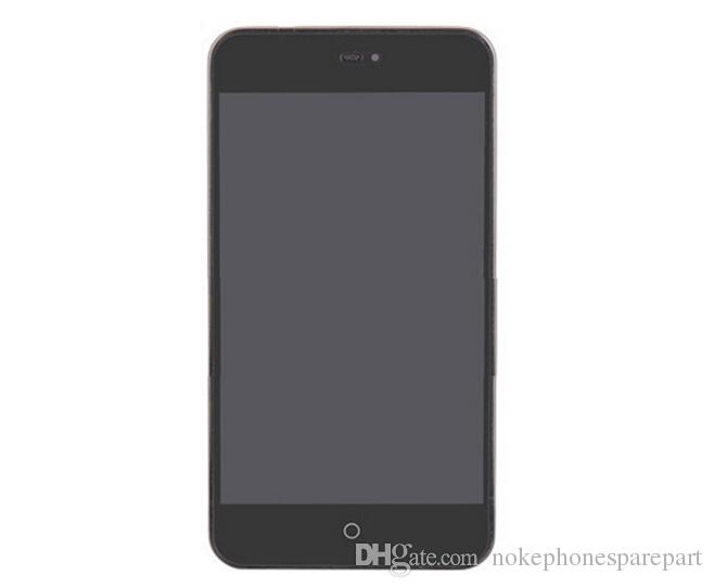 100% LCD d'origine avec cadre pour numériseur d'écran tactile Meizu MX2 + Moniteur LCD Meizu MX2 Assembler des pièces de rechange en noir et blanc