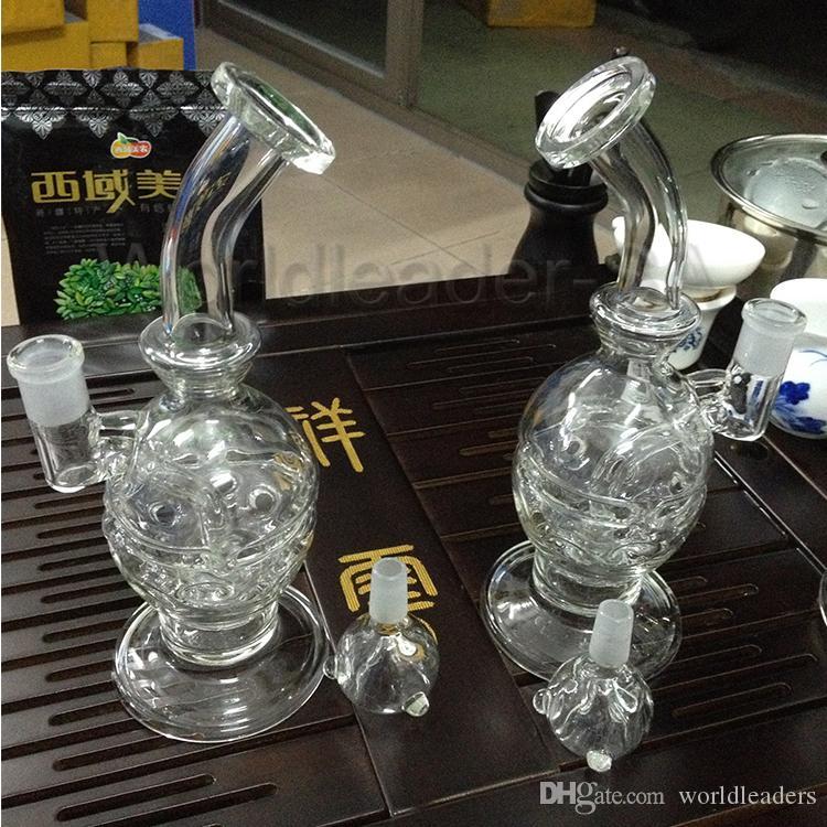 Acqua di vetro Bong riciclatore di riciclatore di riciclatore di impianti di petrolio Bong Fab Egg Bong Glass Acqua Tubo fumato Tubi Narghilè Gratis
