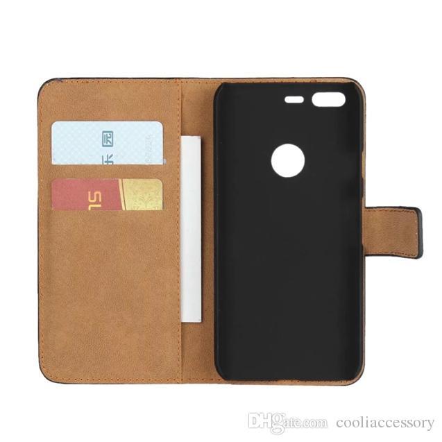 Per Google Pixel Huawei Y6 PRO Sony Xperia XZ Compact X raccoglitore del cuoio genuino della cassa del sacchetto reale del supporto del basamento della carta di identificazione di copertura Borsetta nera di lusso