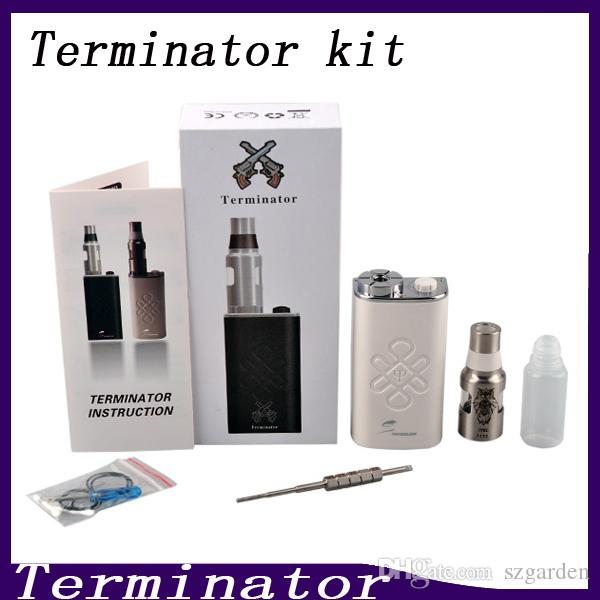 Terminator Box Mod Starter Kit Terminator Mods Bottom Feeder 18650 Battery 510 Thread Firing Button Vs Lucifer Box Mod Kbox 120W 0211199-1