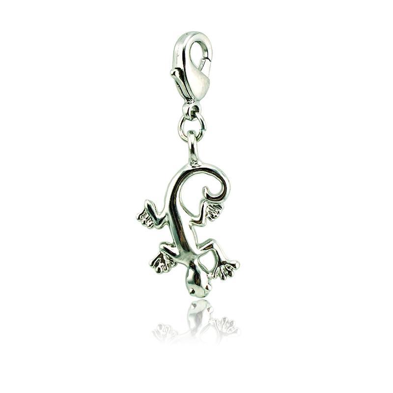 Fascino galleggiante all'ingrosso aragosta fibbia placcato argento Gecko all'ingrosso fascini fai da te per gioielli che fanno accessori