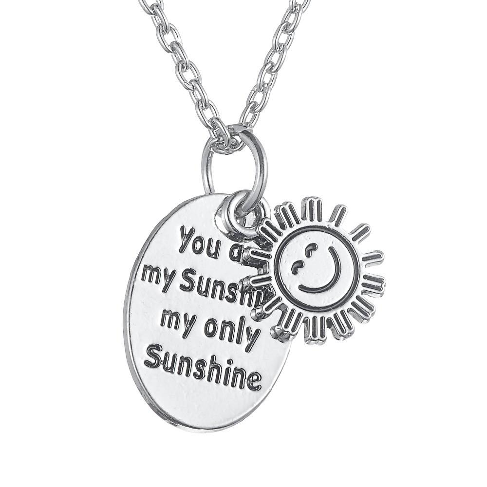 You-Are-My-Sunshine-My-Only-Sunshine-Inspirational-Quote-Necklace-Zinc-Alloy-Charm-Pendant-for-Women