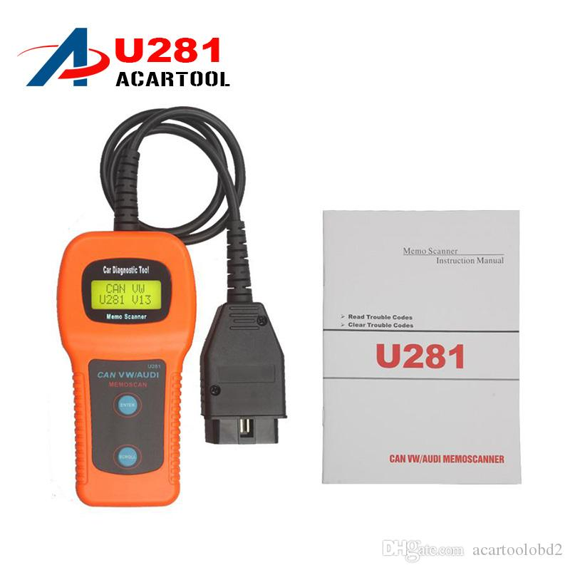 2018 Memoscan U281 for AUDI VW SEAT CAN-BUS OBD CODE READER U281 OBD2 Engine Code Reader CAN BUS OBD2 Scanner tool memoscan u281