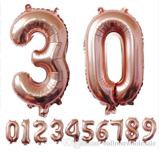 Großhandel 40 Zoll Rose Gold Anzahl Folie Ballons Große Ziffer Helium Ballons Hochzeit Dekorationen Birthday Party Supplies Baby Shower Von Balloonwholesale 0 66 Auf De Dhgate Com Dhgate