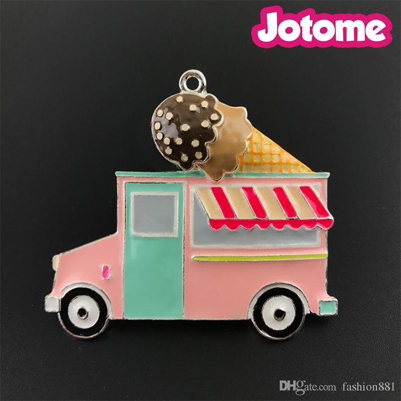 Ice Cream Necklace Ice Cream Truck Necklace Ice Cream Truck Chunky Necklace