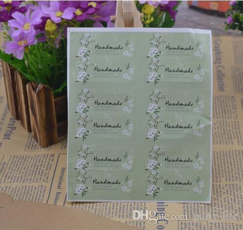 500 fogli (6000 pz) fatto a mano fiore design oblungo sigillo adesivo decorazione fai da te per scrapbook buste regalo pacchetto.