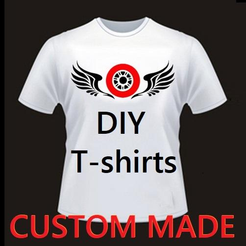Bricolage Custom Made Fashion Sport Hommes Woemn Été manches courtes T-shirts S-3XL Lycra coton Modal de haute qualité Tops Livraison gratuite
