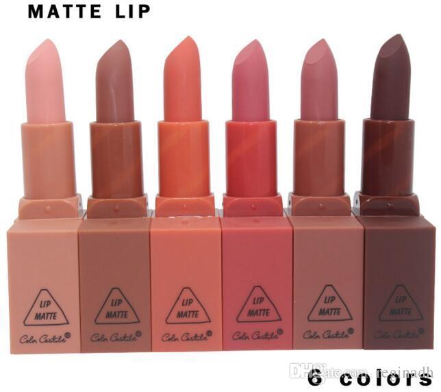 Нет 3CE Lip Stick увлажняющий крем матовые помады длительный легко носить корейский косметический ню макияж губы блеск косметика Оптовая
