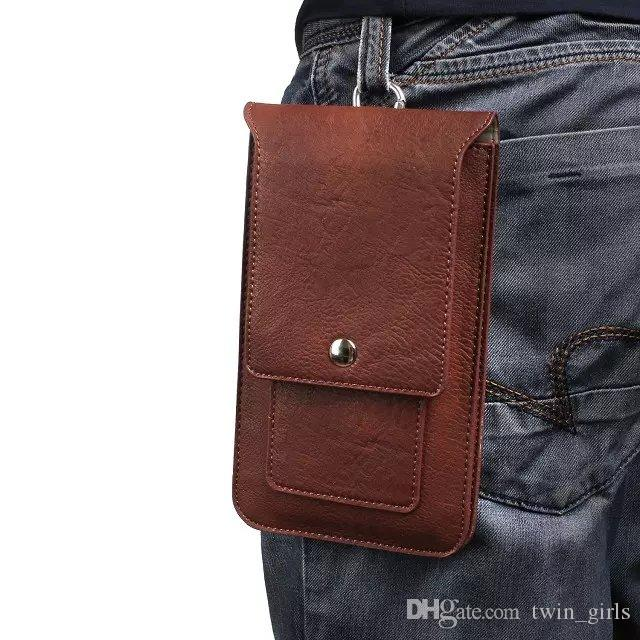 """Роскошные открытый двойной карабин-карманы Сумка для телефона для iPhone8 I7 7 Plus Cover Hook Pougher Colester 6.3 """"ниже"""