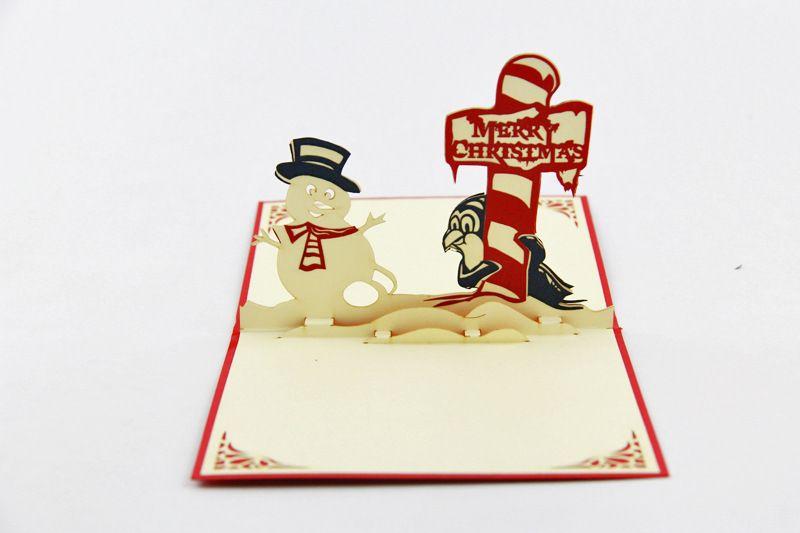 Biglietto di auguri di Natale biglietto di auguri di Natale decorazioni natalizie carte di Natale per le carte di bessing pop-up pop-up biglietto di auguri