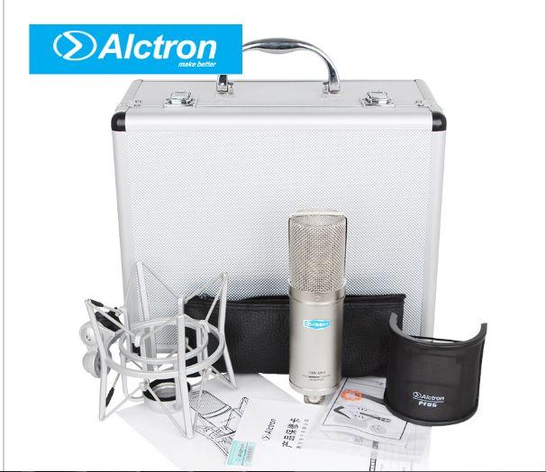 Nuevo Alctron CM6MKII Condensador profesional Micrófono con micrófono Mic Sound Studio para el kit de grabación KTV Karaoke con Shock Mount