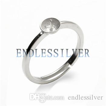Simple Ring Settings Blank Base Band 925 Sterling Silver DIY Jewellery Finding Mountings for Pearl Party