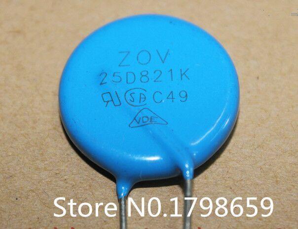 Yeni ve orijinal 10 ADET 25D821K ZOV v25MM 820 V varistör