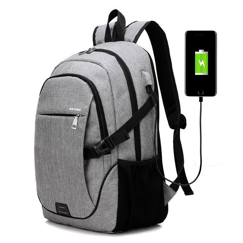 Malidaike USB Shoulder Bag Male Korean Version Fashion Trend Package Smart Charge Students Wild Leisure Bag Travel Backpack