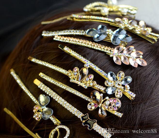 10pcs / lot mezcle estilo de moda clips de pelo barrettes para mujeres niñas joyería regalo hj050 *