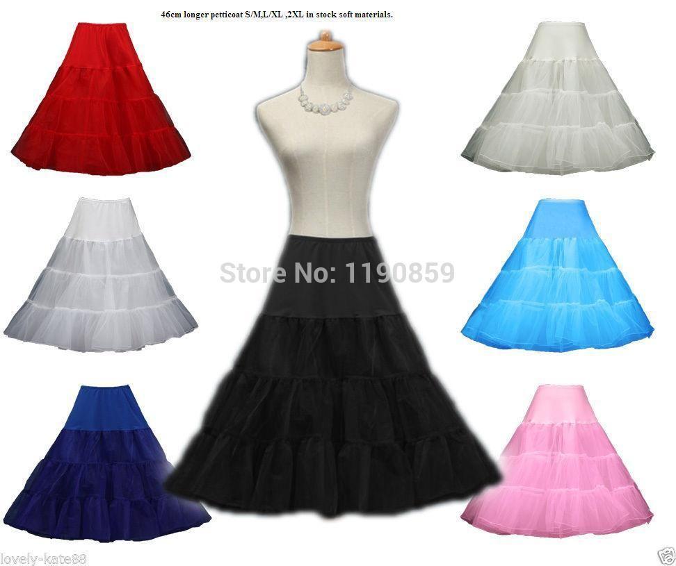 Wholesale-Free shipping Brand 46cm New Retro Underskirt Swing Vintage Petticoat Fancy Skirt Rockabilly Tutu Fancy Net Skirt Rockabilly 2