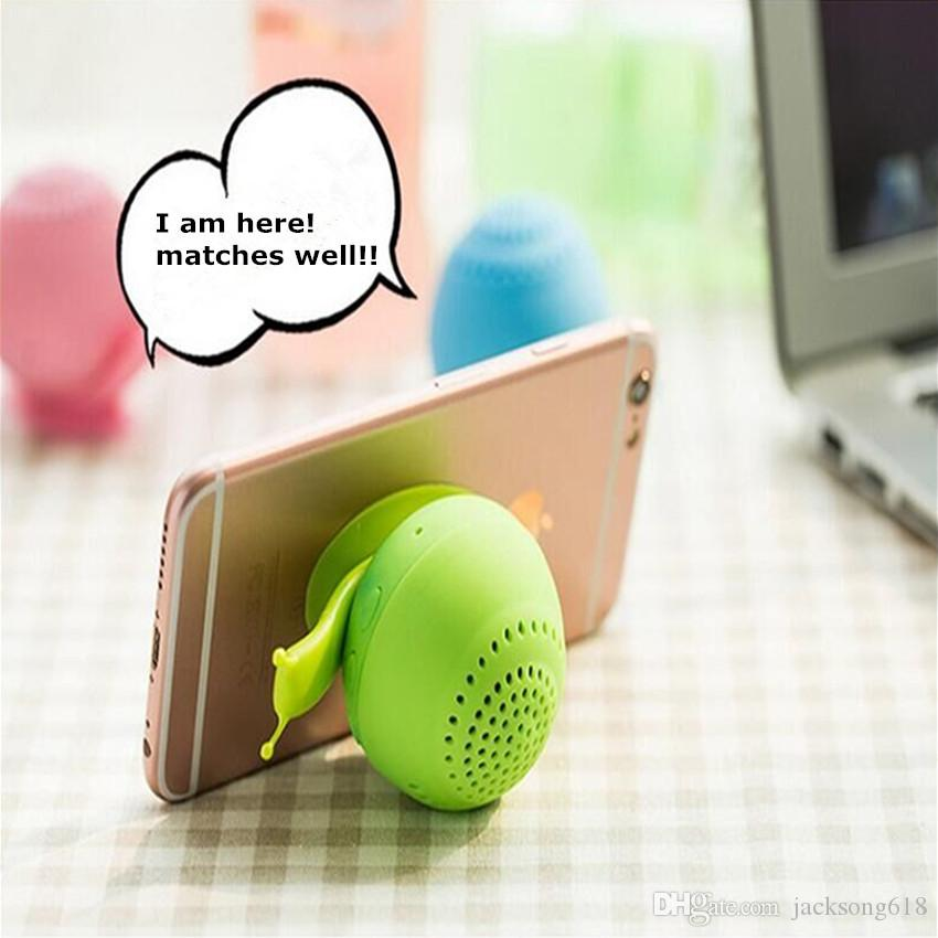 Newest Snail Bluetooth Speaker Mini Wireless Novelty with Cell Phone Holder Bluetooth Speaker Sound box Wholesales 10pcs/Lot