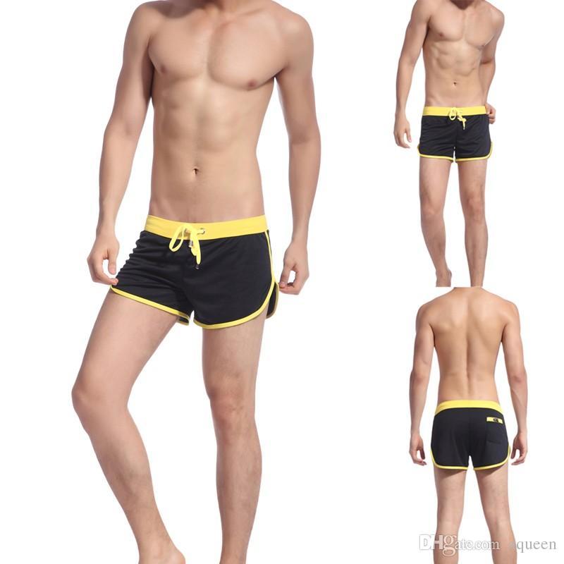 New style Boxer Briefs Men's Swimwear Trunks Sports Wear Sexy Short Beach Summer Pants Mens Swimsuit free shipping
