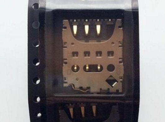 10pcs / lot Motorola Moto G3 3RD 3 Gen 3ND XT1540 XT1541 XT1543 için Orijinal yeni SIM kart okuyucu konektörü tutucu soket modülü