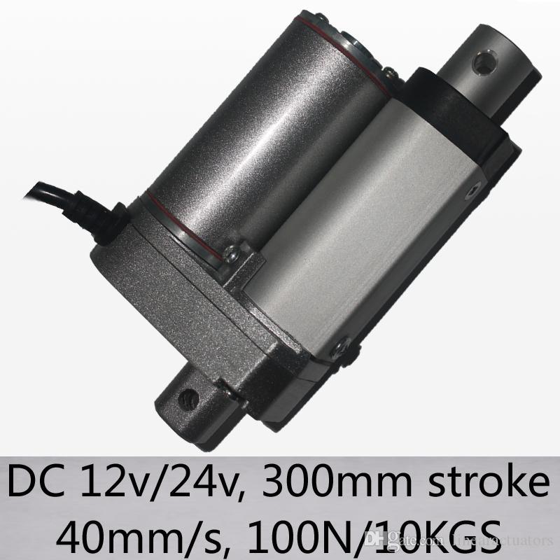 """40mm / s alta velocidad 100n 10kgs carga controladores lineales 12 """"/ 300mm golpe dc 12v y 24v nuevas llegadas"""