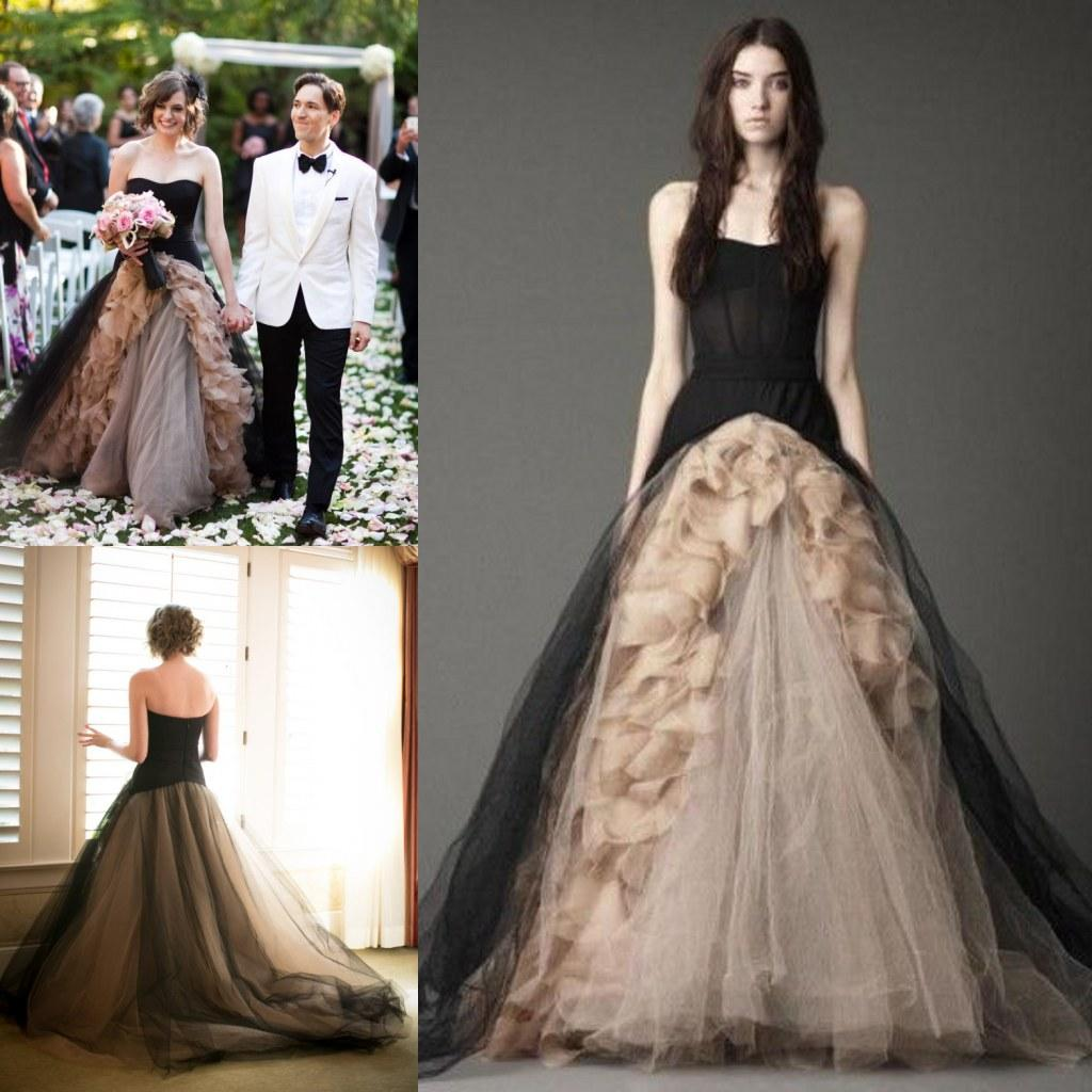 2016 Vintage Gothic Wedding Dresses Bride Ball Gowns Sweetheart Black Tulle 2017 Victorian Elie Saab With Flowers QW725 2018 From Dianadress