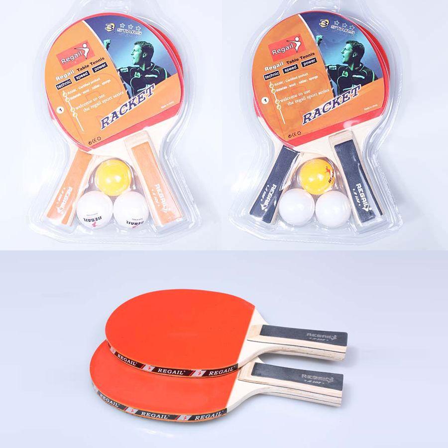 긴 테이블 테니스 라켓을 처리하는 설정 여드름 - 소매 포장을 가진 어린이 교육 낮은 가격 라켓 고무 박쥐