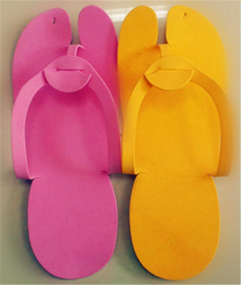 Cute Disposable Flip Flop Slippers Foot Spas Pedicure For Nail Toe Salon
