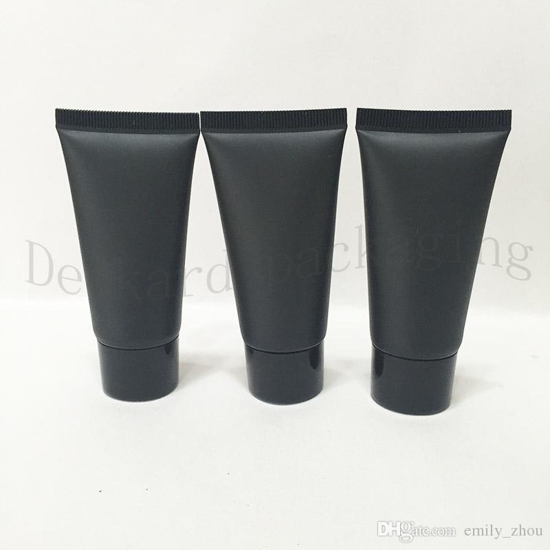 150 adet Boş Siyah Yumuşak Tüp Kozmetik Ambalaj Için, Örnek 30 ML Losyon Krem Plastik Şişeler, unguent Konteynerler Tüp sıkmak