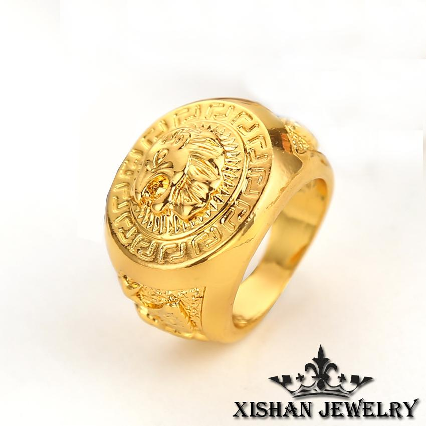 2019 Wholesale Upgrade 7 11 Size Design Gold Plated Men Rings High