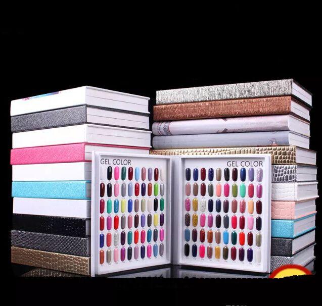 Profesyonel Modeli 216 Renkler Tırnak Jel Lehçe Renkli Ekran Kart Kitap Adanmış Kart Grafik Tırnak Sanat Araçları Ile 226 Yanlış Tırnak