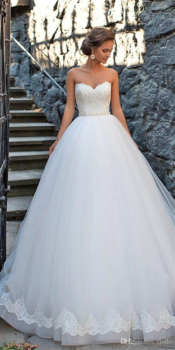 Vintage Beaded Lace Ball Gown Wedding Dresses 2017 Spring Court ...