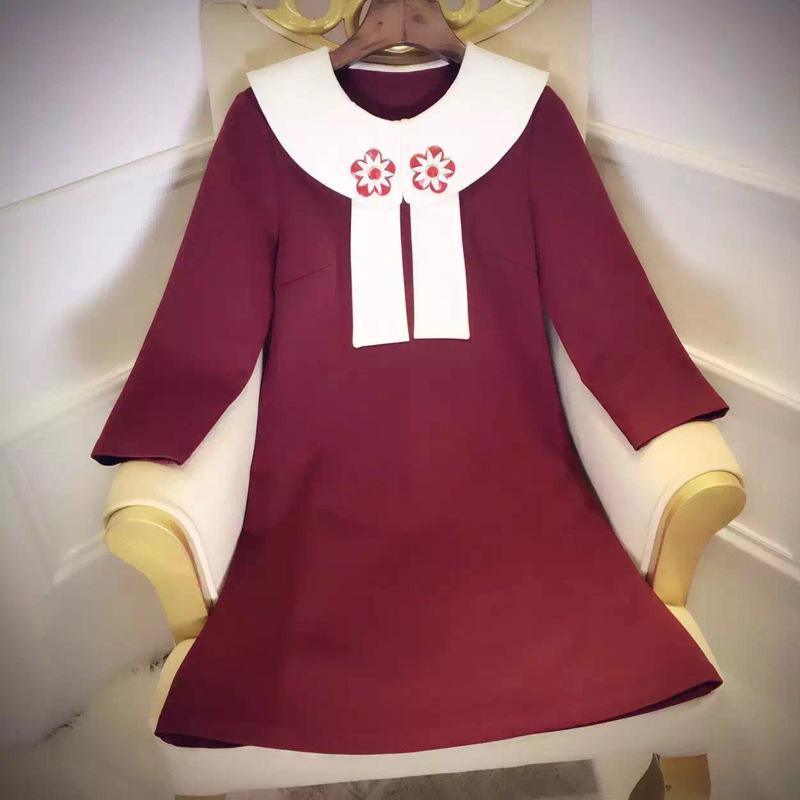 Autumn, the new cute doll collar A dress tide dress wet spot wholesale agent