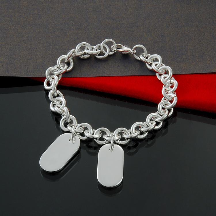 Fábrica directa al por mayor y al por menor de plata de ley 925 langosta pulsera de plata joyería de las tarjetas