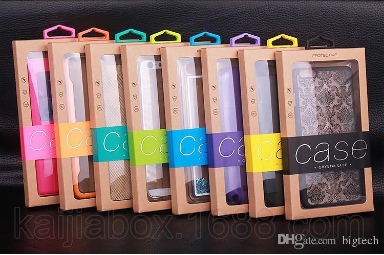 200pcs Bunte Universal-Paket PVC-Plastikkleinverpackung Packpapierkasten für iphone 6 Plus Fall Note 5 Innenfächer Halter