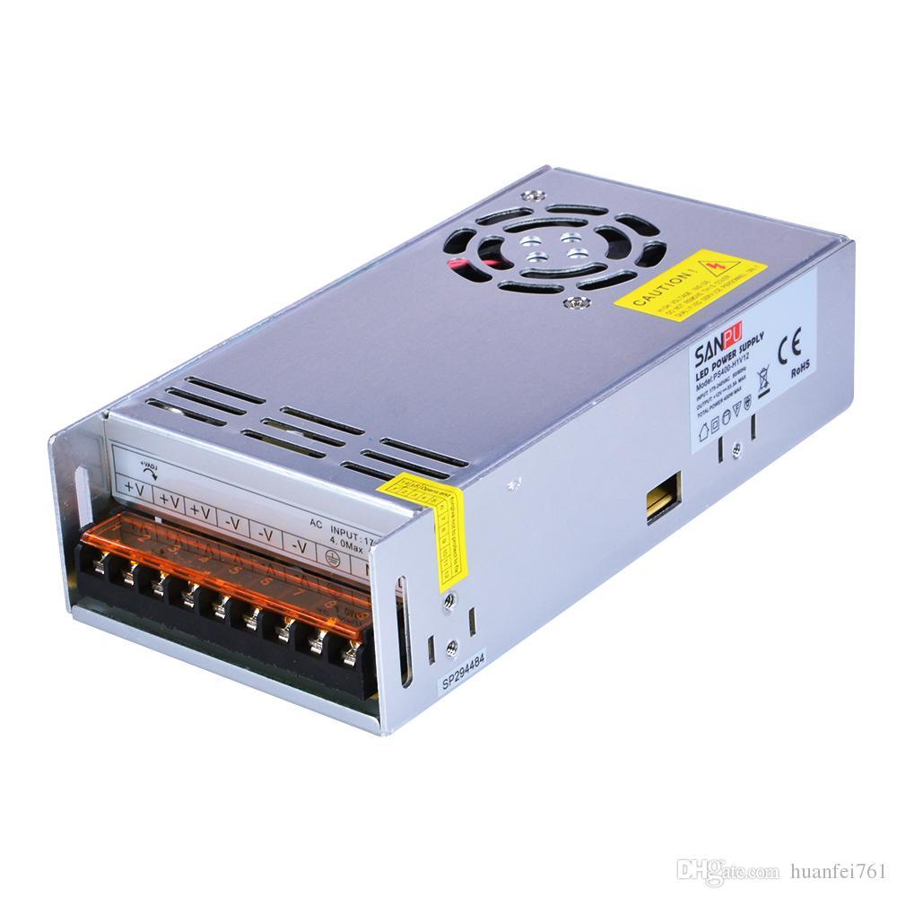 Sanpu SMPS Zasilacz LED 12V 24 V DC 400W Sterownik przełączania napięcia stałego 110 V 120 V AC-DC Transformator Oświetlenia Pojedyncze Wyjście Salowe